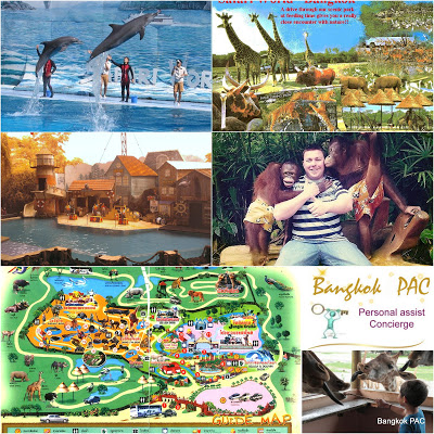 Safari World bangkok collage by auswathai